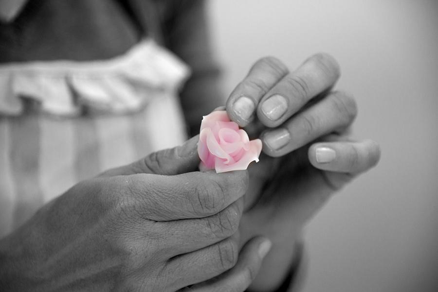 Piccola rosa di cera