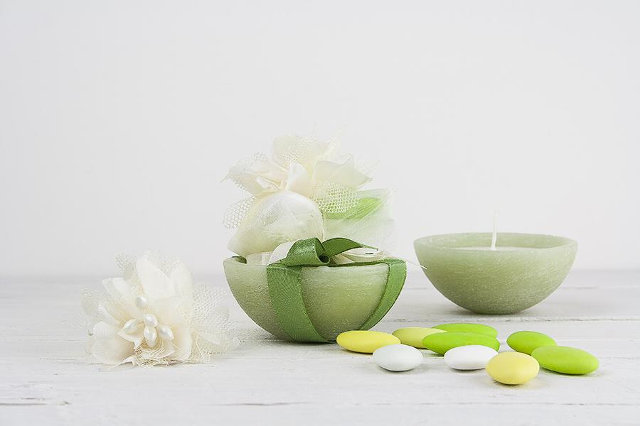 Bomboniera ciotola con cera di soia